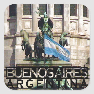 Buenos aires vierkante sticker