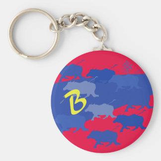 buffels basic ronde button sleutelhanger