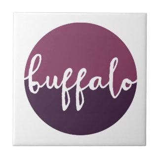 Buffels, New York | Paarse Cirkel Ombre Tegeltje