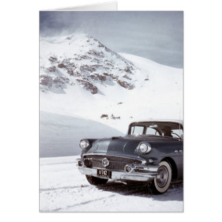 Buick en de Berg van Colorado Wenskaart