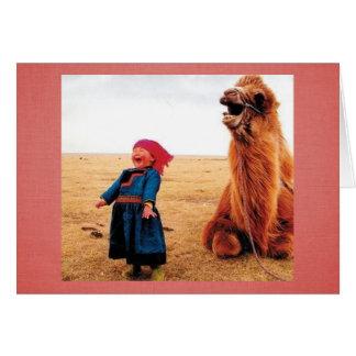 Buik-lach Kind & Kameel Briefkaarten 0