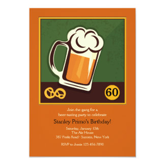 Buikfles van de Uitnodiging van het Bier