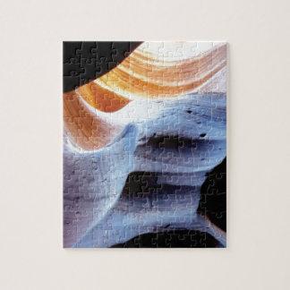 Builen en stukken in de rotsen puzzel