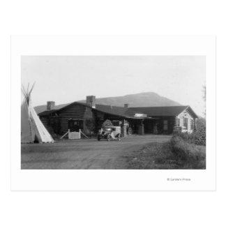 Buiten Uitzicht van Inheemse Amerikaanse Stammen Briefkaart
