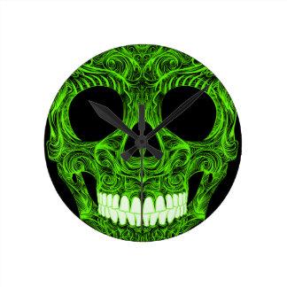 Buitengewone Suiker Skull Dia DE Los Muertos Day Ronde Klok