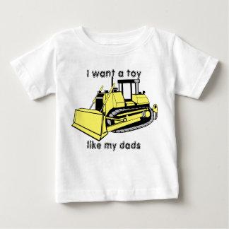 bulldozer_color, wil ik een speelgoed, zoals mijn baby t shirts
