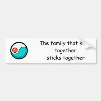 bumper: De familie die togethersticks… Bumpersticker