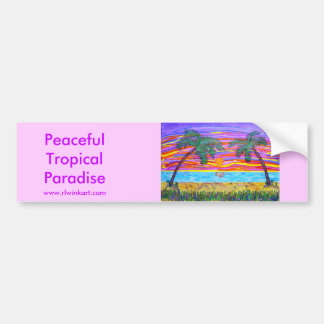 Bumpersticker - Vreedzaam Tropisch Paradijs