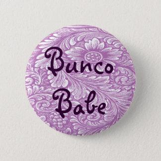 Bunco Babe met de Knoop van de Bloem Ronde Button 5,7 Cm