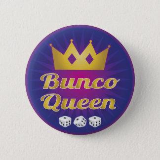 Bunco Koningin Crown en dobbelt Ronde Button 5,7 Cm