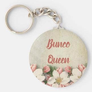 Bunco Koningin Vintage Flower Garden Sleutelhanger