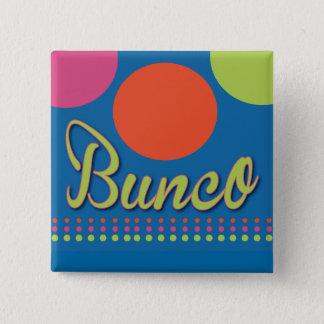Bunco met de Speld van het Stip Vierkante Button 5,1 Cm