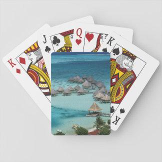 Bunglows van het Hotel van de Lange strandgolf Speelkaarten