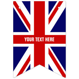 Bunting van de Partij van de Vlag van DIY Britse Vlaggetjes