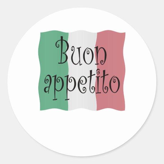 Buon appetito ronde sticker