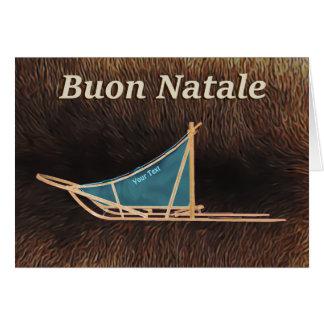 Buon Natale - de Slee van de Hond Wenskaart