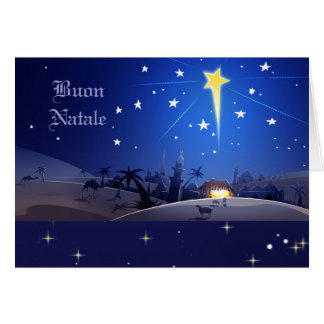 Buon Natale. Italiaanse Kerstkaart Briefkaarten 0