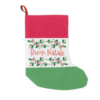 Buon Natale (Vrolijke Kerstmis) Kleine Kerstsok