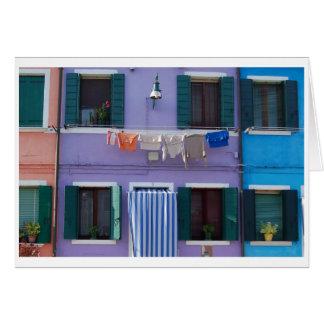 Burano, Venetië Italië Wenskaart