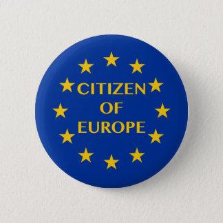 Burger van Europa Ronde Button 5,7 Cm