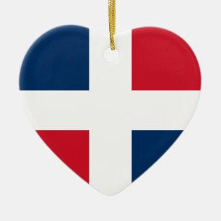 Burgerlijke Vlag van de Dominicaanse Republiek, Keramisch Hart Ornament