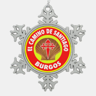 Burgos Tin Sneeuwvlok Ornament