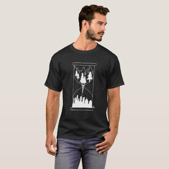 Burning forrest into skyline t shirt