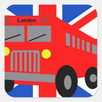 Bus in London Vierkante Sticker