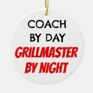 Bus tegen Dag 's nachts Grillmaster Rond Keramisch Ornament