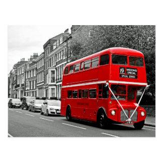 Bus van de Dubbeldekker van het huwelijk de Briefkaart