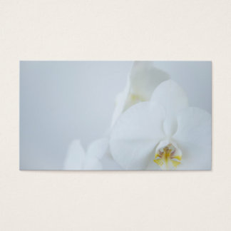 Business Card White Orchids Visitekaartjes