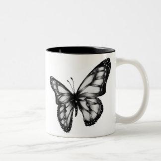 butterfly.gif 400389 pixel tweekleurige koffiemok