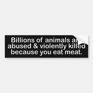 BW_billions_animals Bumpersticker