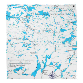 BWCA kaart Sawbill Bandana