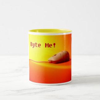 Byte me tweekleurige koffiemok