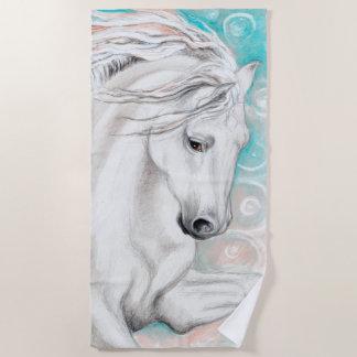 $c-andalusisch Paard in Blauw Strandlaken