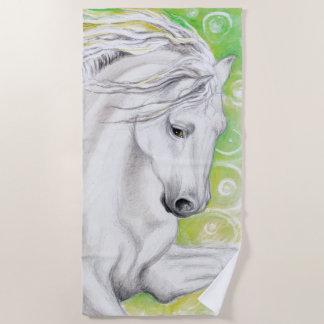 $c-andalusisch Paard in Groen Strandlaken