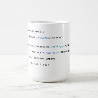 C de Scherpe Mok van de Koffie van Programmeurs