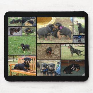 C het puppycollage van de Draagstoel Muismatten
