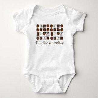 C is voor het Snoepje van Chocoholic Bon Bon Romper