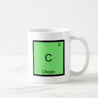 C - T-shirt van het Symbool van het Element van de Koffiemok