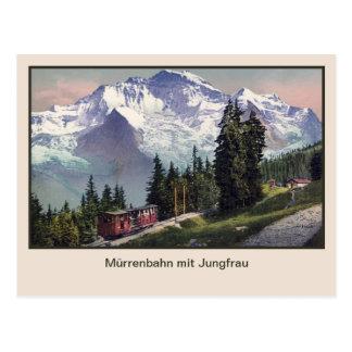 ca 1900 de Spoorweg van Muerren van de Berg Briefkaart