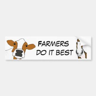 CA- de landbouwers doen het het best de Sticker va