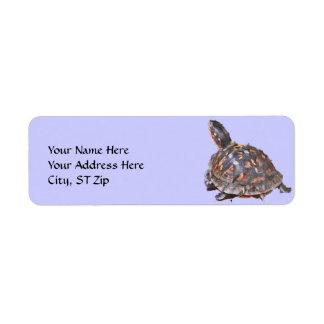 CA- het Etiket van het Adres van de Schildpad van