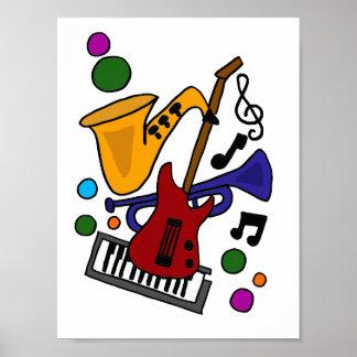 CA- het Poster van de Kunst van de muziek