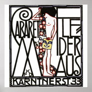 Cabaret in Druk van het Poster van Wenen de Vintag