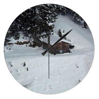Cabine in de klok van de sneeuwmuur