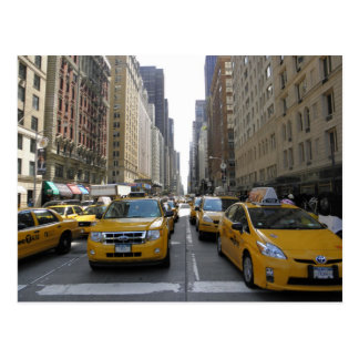 Cabines in de Stad van New York Briefkaart