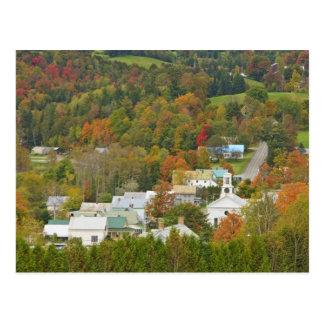 Cabot, Vermont in herfst. Noordoostelijk Briefkaart