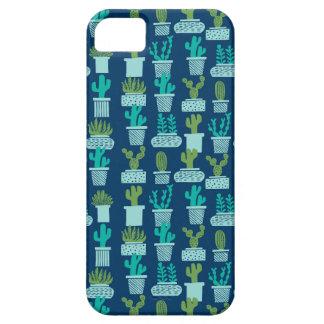 Cactus Blauwe Succulente Terrarium/Andrea Lauren Barely There iPhone 5 Hoesje
